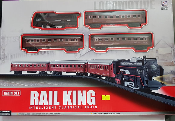 רכבת סוללות עם מסילה