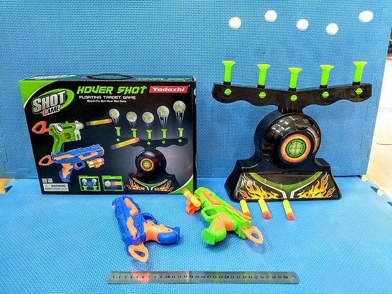 סט אקדח חצים עם כדורים עפים