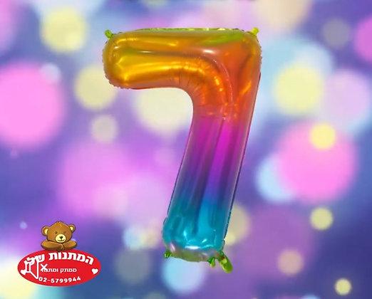 בלון מספר 7 עם הליום צבעוני