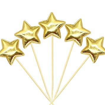 קיסם לעוגה כוכב זהב  6 יחידות