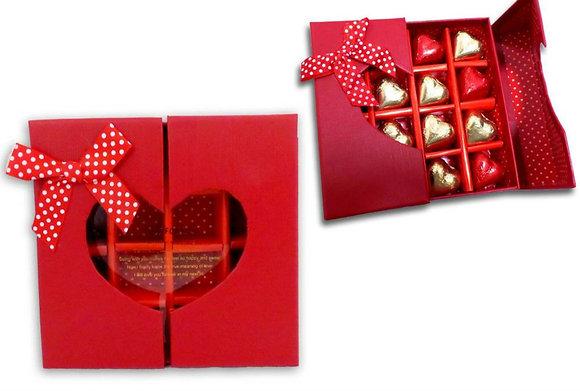 קופסא עם שוקולד לב