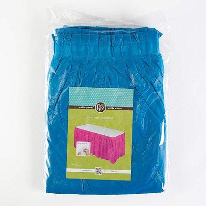 חצאית לשולחן צבע כחול
