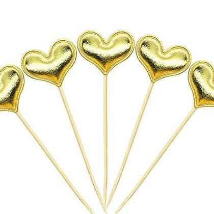 קיסם לעוגה לב זהב 6 יחידות