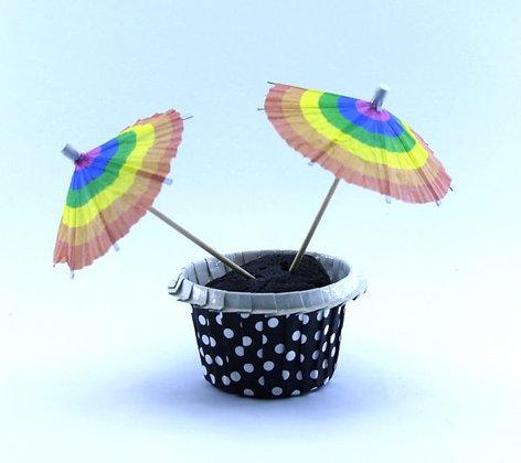 קיסם לעוגה מטרייה צבעוני 12 יחידות