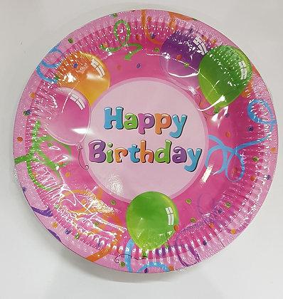 צלחות יום הולדת 25 יחידות
