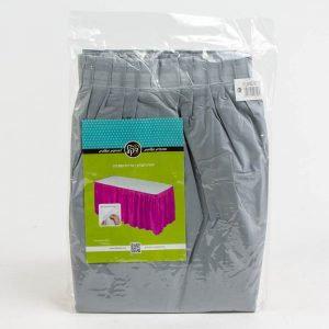חצאית לשולחן צבע אפור