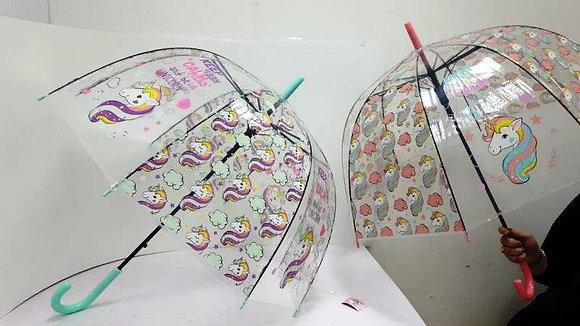 מטרייה שקופה חד קרן גדולה