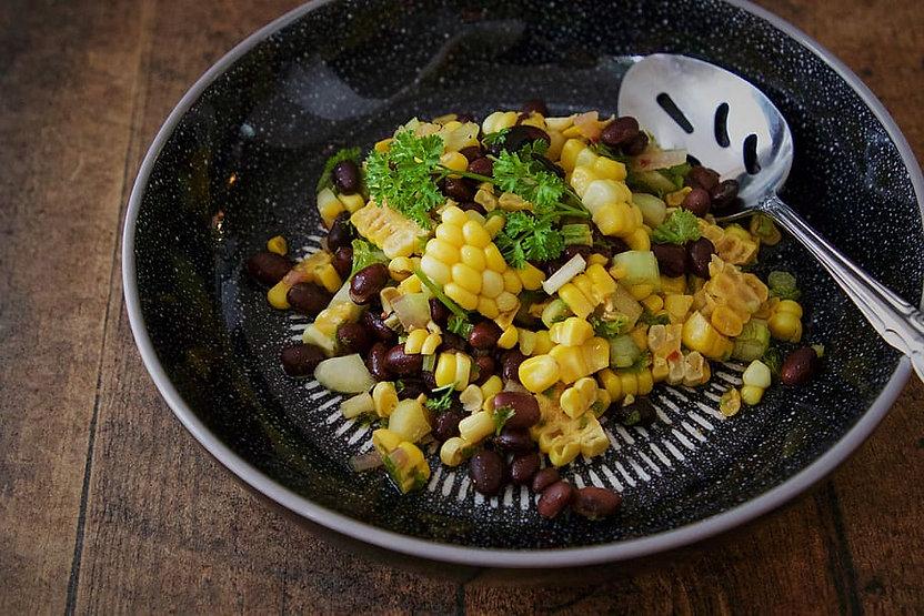 1.Black Bean Salad with Corn, Avocado &