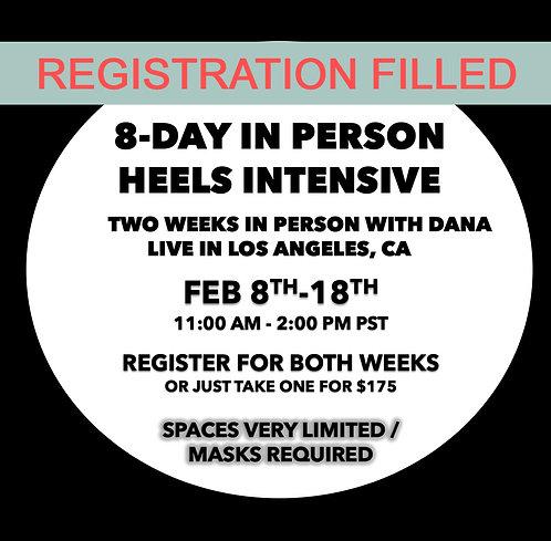 Heels Intensive: Feb 8-18th (LA)