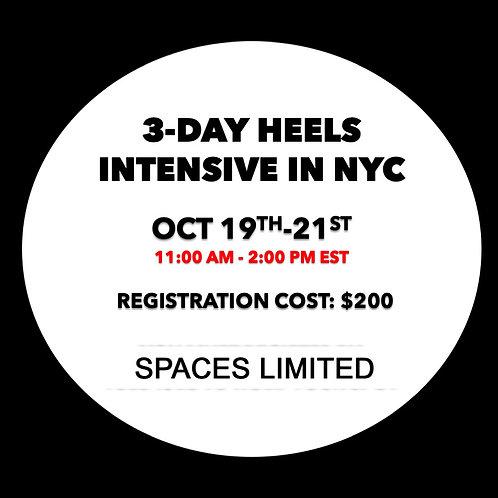3-Day Heels Intensive: Oct 19-21