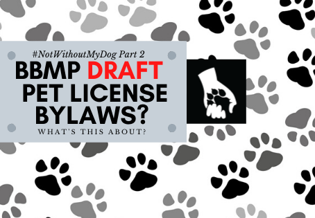 New Draft BBMP Pet Licensing Laws ?  NO #NotWithoutMyDog Reprise!