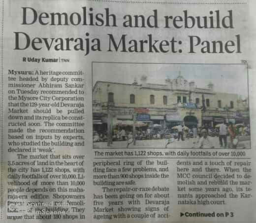 High Court halts Devaraja Market demolition in Mysore