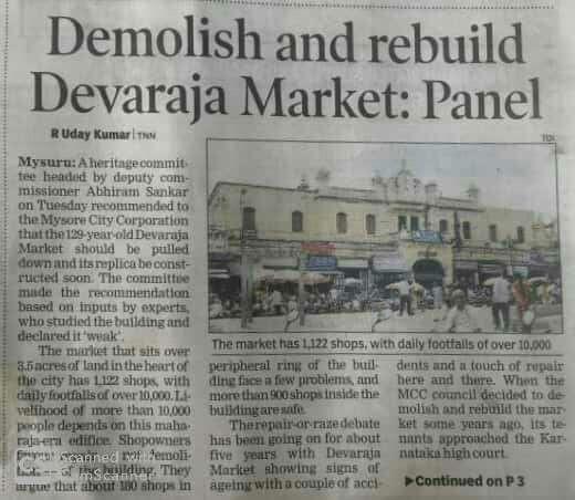 High Court halts Devaraja Market demolition in Mysore