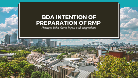 #HeritageBeku responds to BDA's notice inviting suggestions for preparation of RMP 2031