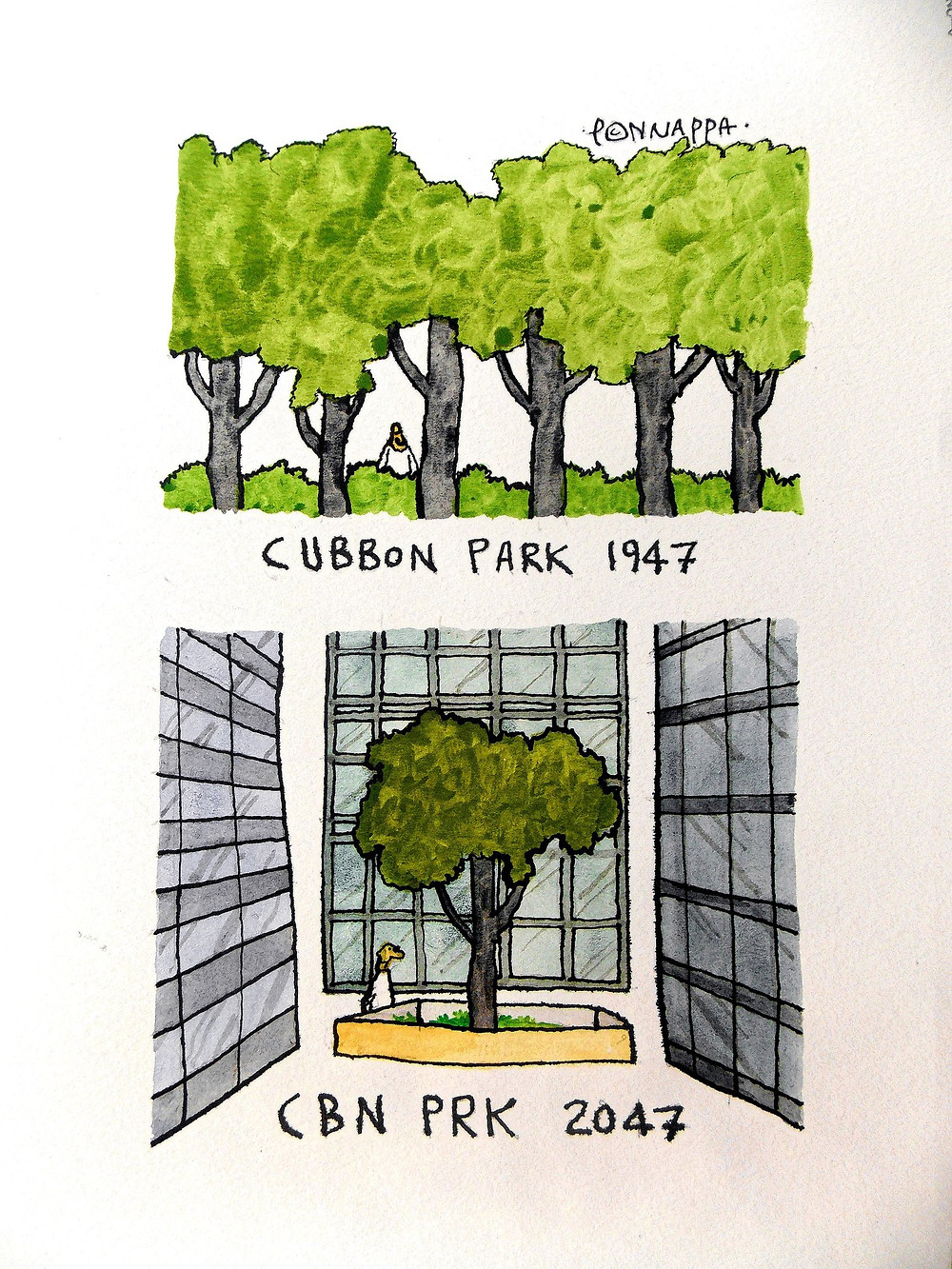 Nala Ponappa Cubbon Park Cartoon