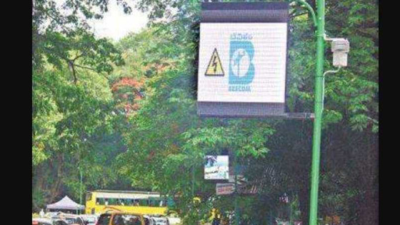 Remove LED Display Boards at Cubbon Park