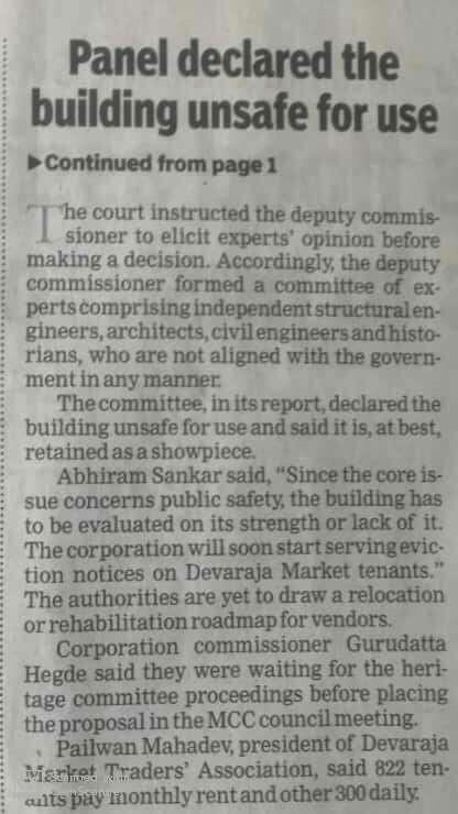 #HeritageBeku writes to DC Mysuru Reg plans todemolish and rebuild the iconic Devaraja Market ..