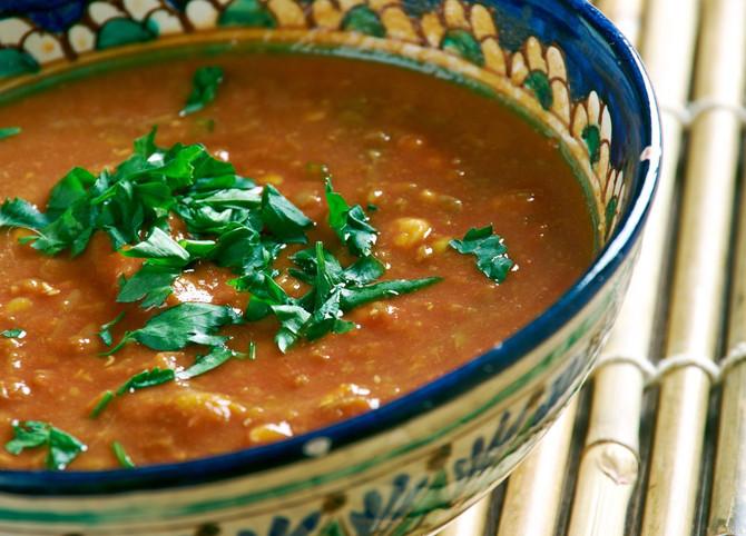 Red Split Lentil & Pumpkin Stew