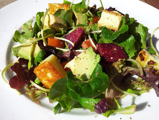 Tofu Salad with Asian dressing