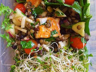 French lentil and Halloumi Salad