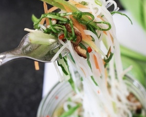 Asian Chicken Noodles in a Jar