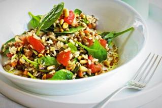 Brown Rice and Puy Lentil Salad