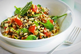 Brown Rice and Puy Lentil Salad