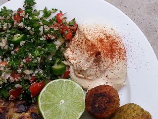 Cashew hummus with Quinoa Tabouli