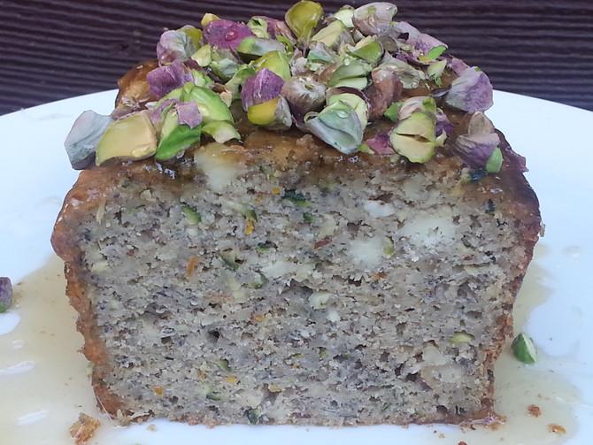 Zucchini, Ricotta & Pistachio Cake