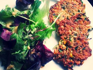 Quinoa, Corn & Zucchini Fritters
