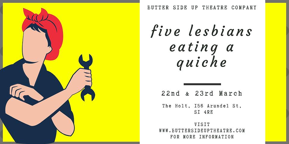 Five Lesbians Eating a Quiche Poster