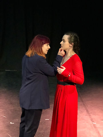 Heather Gibb as Macbeth and Sabrina Senior as Lady Macbeth