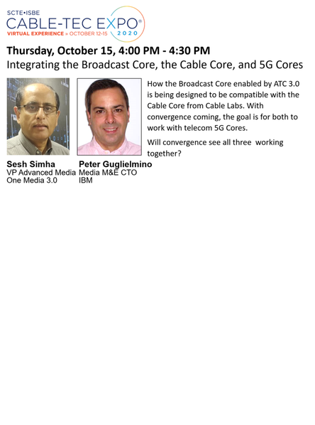Learn How the Broadcast, Cable, and 5G Cores are Being Developed to Work Together
