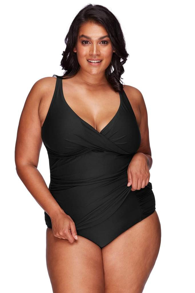 The Hues Black Delacroix Tankini Top from ArteSands