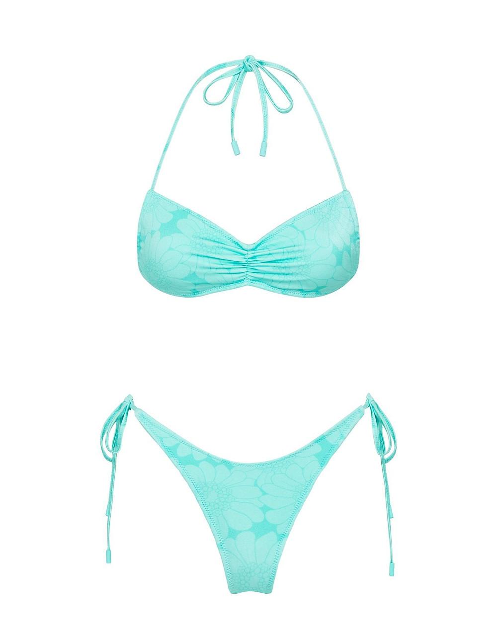 Greta Teal Floral Bikini Set by TRIANGL