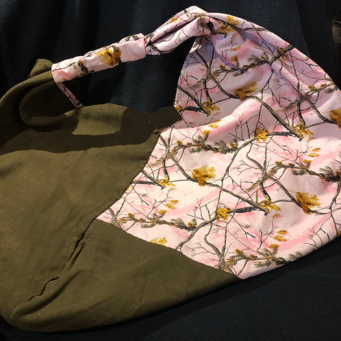 Origami-Style Pink Camo Handbag