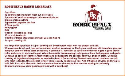 Robicheaux Ranch Jambalaya Recipe