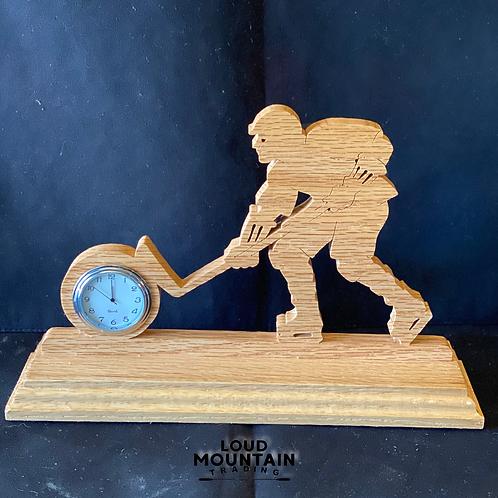 Handmade Wooden Hockey Clock