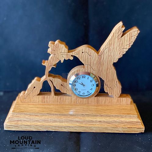 Handmade Wooden Hummingbird Clock