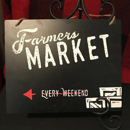 Chalkboard Farmers Market Sign