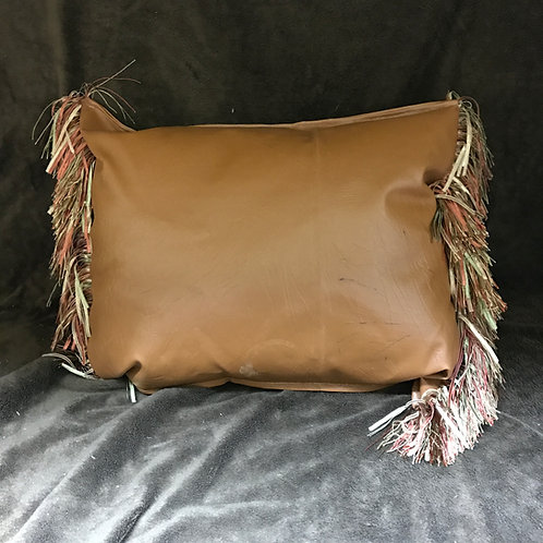 Faux Leather Handmade Pillow