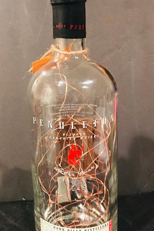 Pendleton Whiskey Bottle Gold Battery-Powered Lamp