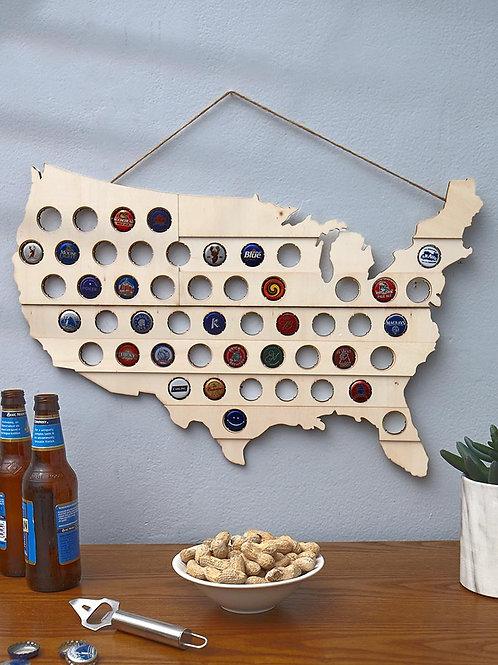 Beer or Pop Cap Map
