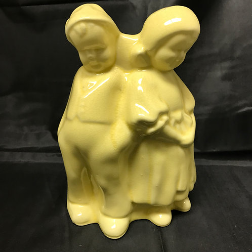 Praying Children Planter in Yellow