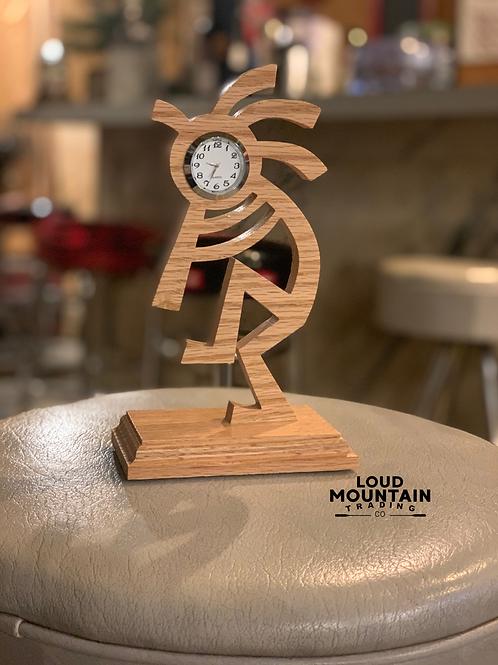 Handcrafted Wooden Kokopelli Clock
