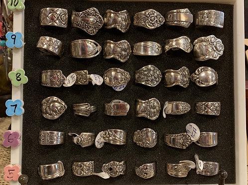 Vintage Silverware Rings