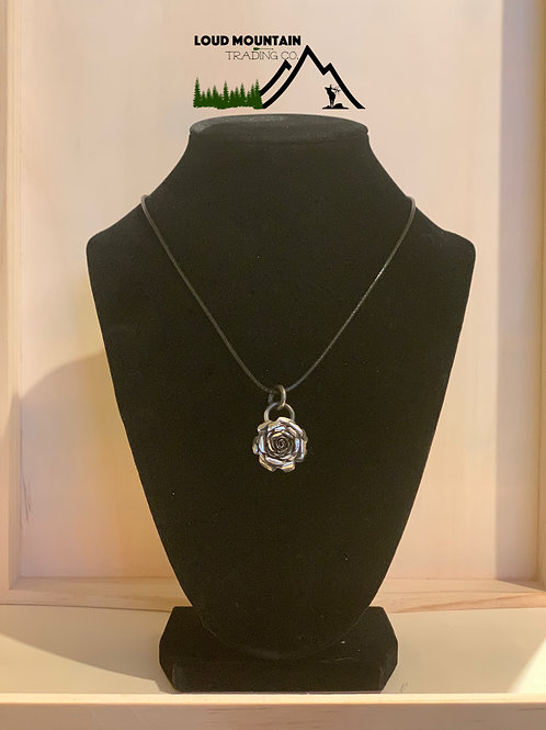 Sterling Silver Handcrafted Rose Pendant