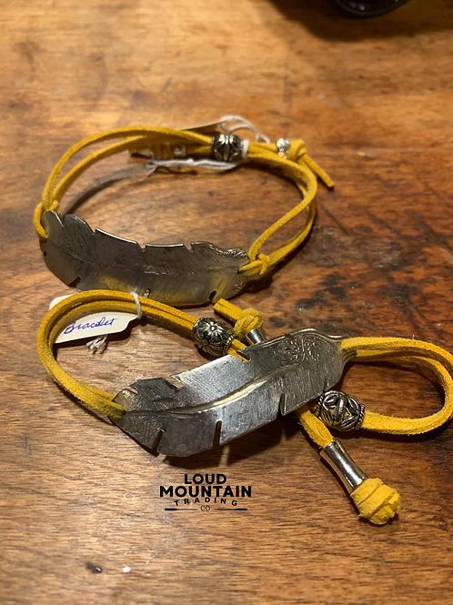 Vintage Silverware Feather Bracelet