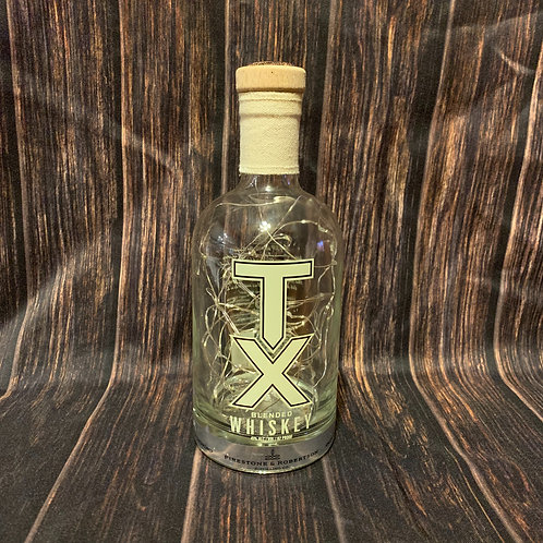 TX Whiskey Cordless Bottle Lamp