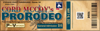McCord Rodeo Tickets